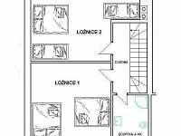 půdorys apartmán č. 2 patro