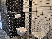 Koupelna s WC v přízemí - pronájem chalupy Bavorov