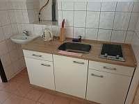 Kuchyň - apartmán k pronájmu Chlum u Třeboně