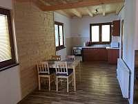 Jidelna s kuchyni - chata k pronájmu Frymburk - Kovářov