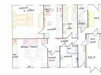 Dispozice místností - chalupa ubytování Kardašova Řečice