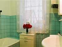 Koupelna s vanou a umyvadlem - chalupa k pronájmu Kardašova Řečice