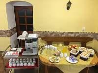 Snídaně pro hosty - ubytování Jarošov nad Nežárkou