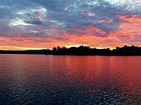 západ slunce nad Lipnem - Kovářov