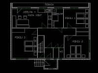 dispozice domu - apartmán ubytování Vráž