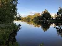 Řeka Lužnice 50m od chatky - k pronajmutí Skalice