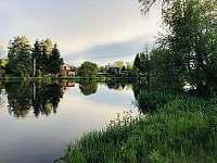 Řeka Lužnice 50m od chatky - pronájem Skalice