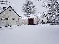 Ladovská zima - chalupa ubytování Nová Včelnice - Brabec