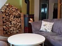 Krbová kamna - rekreační dům ubytování Frymburk