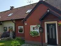 pohled z příjezdové cesty - rekreační dům ubytování Frymburk