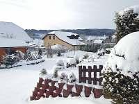 zimní pohled z terasy - Frymburk