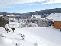 zimní pohled z terasy - rekreační dům k pronájmu Frymburk
