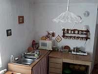 kuchyň - chalupa ubytování Defurovy Lažany