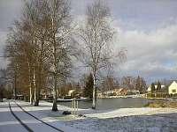 zimní výhled z penzionu - Třeboň - Branná