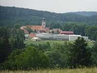 pohled na Novou Bystřici z Ovčárny