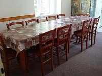 Jídelna vedle kuchyně 10 míst na sezení - pronájem vily Planá nad Lužnicí