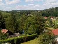 Výhled z okna - chata k pronájmu Koloděje nad Lužnicí
