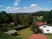 Výhled z okna na řeku Lužnici