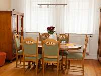 jídelna-společná s obývacím pokojem a kuchyní - pronájem rekreačního domu Kardašova Řečice