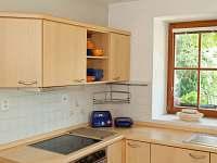 varná deska a el.trouba v kuchyni - rekreační dům k pronájmu Kardašova Řečice