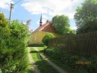 kostelík na Svaté Anně - chalupa k pronájmu Zvíkovské Podhradí
