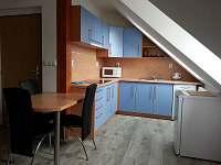Apartmán modrý - obytná kuchyně - Nová Včelnice