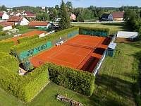 Pohled na tenisové kurty - Jindřichův Hradec - Otín