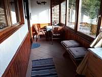 veranda - chata ubytování Frymburk - Lojzovy Paseky