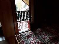 z ložnice na verandu ... - chata k pronájmu Frymburk - Lojzovy Paseky