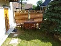 venkovní posezení - rekreační dům ubytování Písečné nad Dyjí