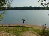 vítání nového dne u jezera