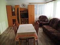 obývací pokoj s TV - chalupa k pronajmutí Malonty - Jaroměř