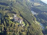 Hrad Landštejn a přehrada-zdroj pitné vody - Český Rudolec