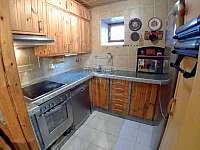 Kuchyň - chalupa ubytování Český Rudolec