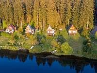 Pohled na okolí - chata ubytování Frymburk