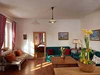 Obývací pokoj - chalupa k pronajmutí Sudoměřice u Bechyně