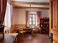 Vstup z verandy do kuchyně - chalupa k pronajmutí Sudoměřice u Bechyně