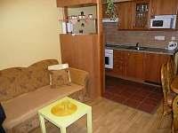 Obytná místnost s kuchyňským koutem