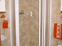 sprchový kout v přízemí - chalupa k pronájmu Dobrkovská Lhotka