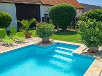 Schody do bazénu - pronájem chalupy Březí