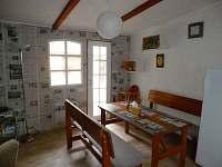 Jídelní kout - apartmán ubytování Jindřiš