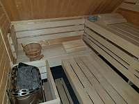 Sauna - pronájem chaty Slupečná