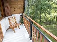 Horní balkon - chata k pronájmu Mladošovice - Lhota