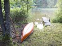 Pohled na rybník - chata k pronajmutí Mladošovice - Lhota