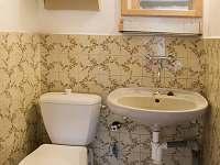 Toaleta s umyvadlem - chata k pronajmutí Mladošovice - Lhota