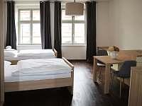 Apartmán č.2 jídelní stůl - ubytování Písek