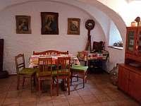 Denní místnost - chalupa ubytování Plavsko