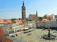 Českobudějovické náměstí.. cca 60 km vzdálené - Vyšší Brod