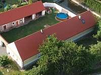 Letecký pohled - chalupa ubytování Vlastiboř