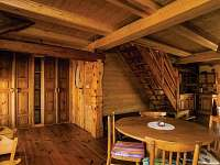 Žabovřeský Mlýn - jídelní a kuchyňský kout apartmánu v 1. patře